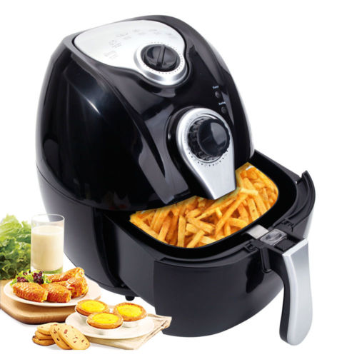 Zimtown 4.4 Qt Electric Air Fryer w/ Temperature Control, Detachable Basket Multi Function Black
