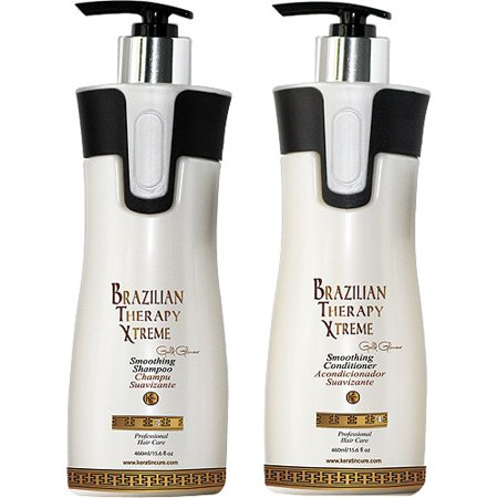 Keratin Cure BTX Brazilian Therapy Xtreme daily use Shampoo Conditioner set with Argan oil Biotin SULFATE FREE protect Color Enhance Hair Growth prevent Hair Loss 460ml/ 15fl oz (Shampoo To Use After Brazilian Keratin Treatment)