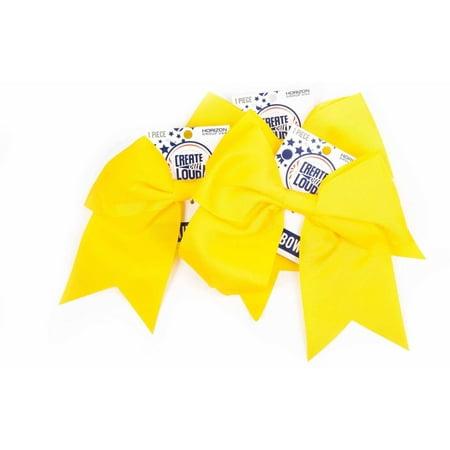 Horizon Group USA Create Out Loud Yellow Grosgrain Hair Bow, 3pk](Golf Hair Bows)