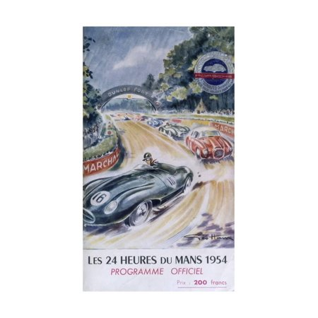 The Official Programme for Le Mans 24 Hours, 1954 Print Wall