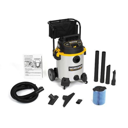 WORKSHOP Wet/Dry Vacs 16 Gallon 6.5 Peak HP Stainless Steel Wet / Dry Vacuum