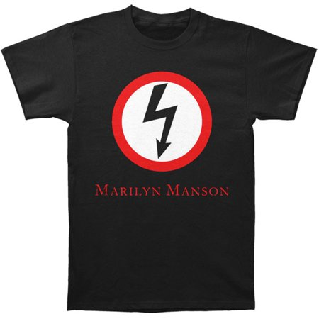 Marilyn Manson Men's Classic Bolt Slim-Fit T-Shirt (Marilyn Manson Las Vegas Halloween)