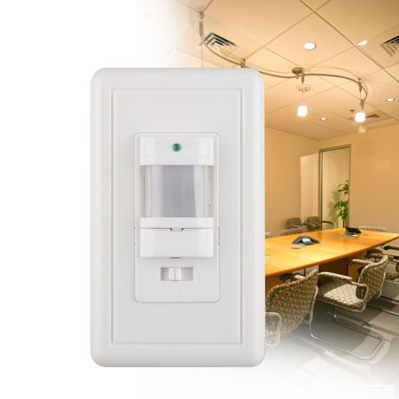 TSV PIR Motion Sensor Light Switch Wall Switch for Indoor Use – Vacancy & Occupancy Modes,  Auto On/Off Wall Light Lamp