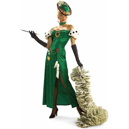 Lady Luck Costume (Lady Luck Women's Adult Halloween)