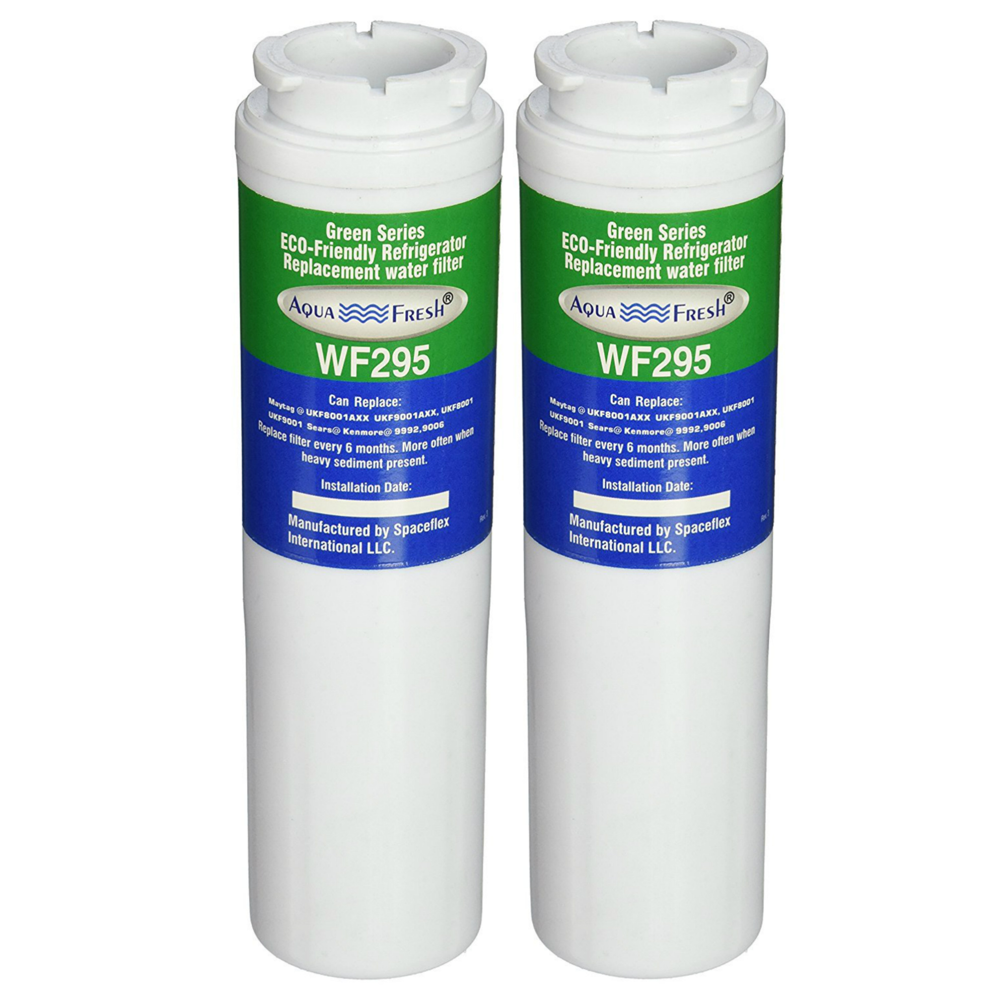 Replacement Water Filter For Maytag WF295 Refrigerator Water Filter by Aqua Fresh (2 Pack)