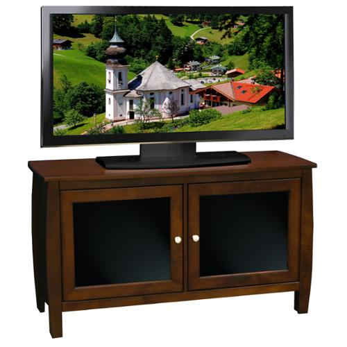 "Curve TV Console-Finish:Mocha,Length:45"" Cart"
