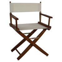 "Extra-Wide Premium 18"" Directors Chair Mission Oak Frame W/Natural Color Cover"