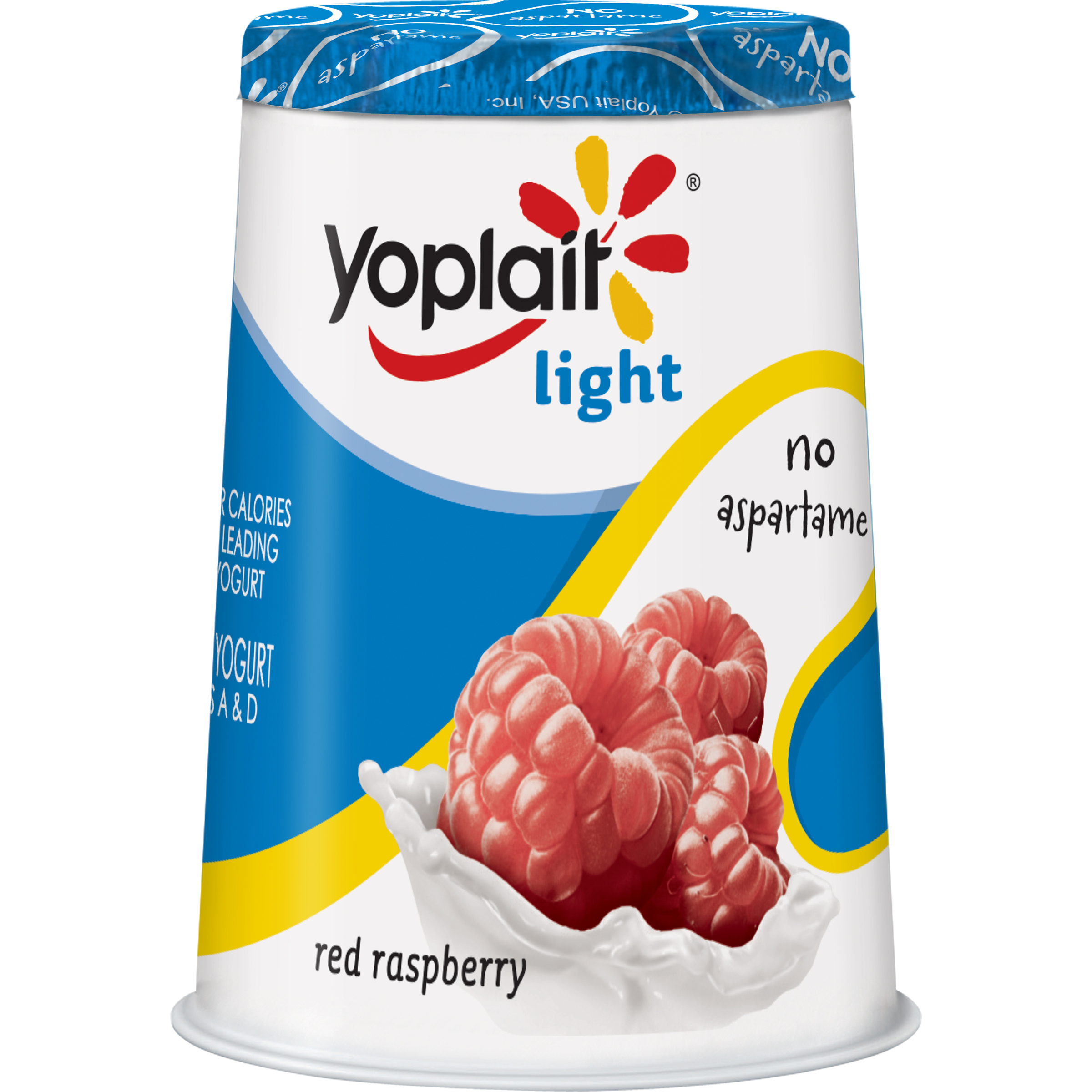 Yoplait Light Fat Free Yogurt Red Raspberry 6.0 oz Cup