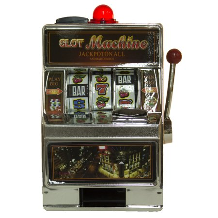Realistic and Functional  7.5 Inch Casino Slot Machine Style Coin Savings Bank - Casino Style