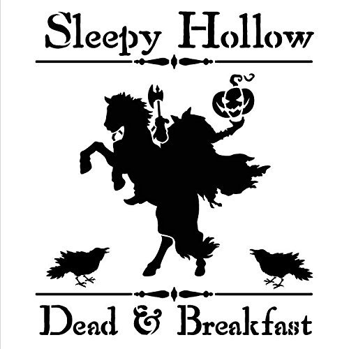 "Sleepy Hollow Dead & Breakfast - Word Art Stencil - 12"" x 12"" -STCL1284_2 by StudioR12"