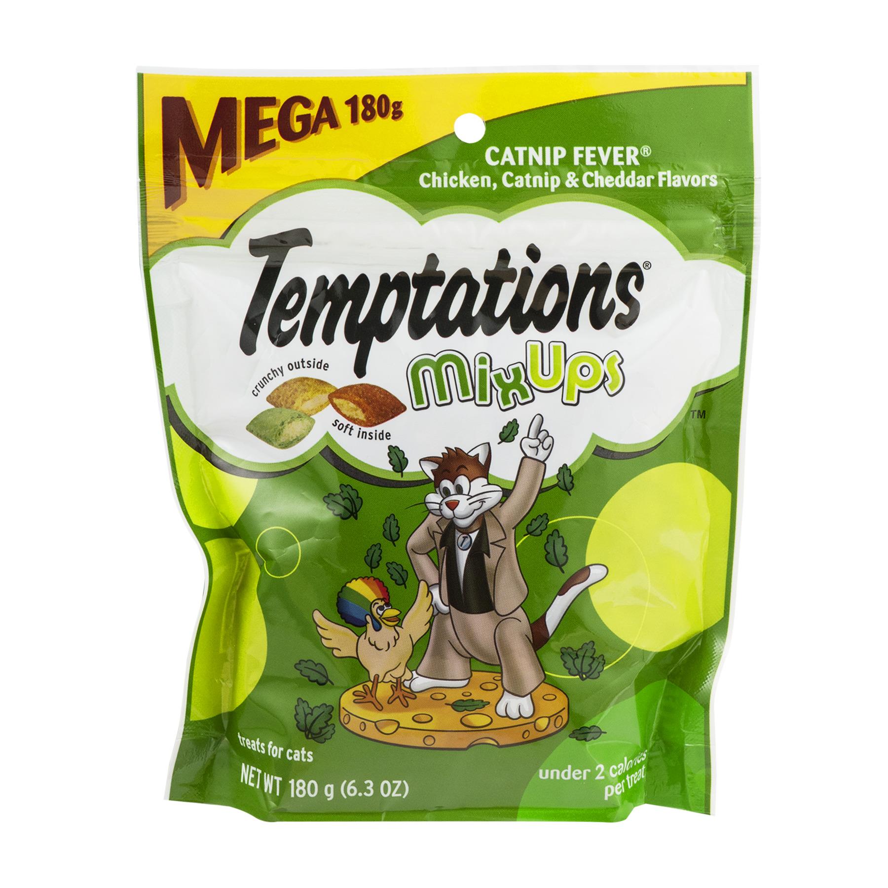 TEMPTATIONS MixUps CATNIP FEVER Flavor Cat Treats, 6.3 Oz.
