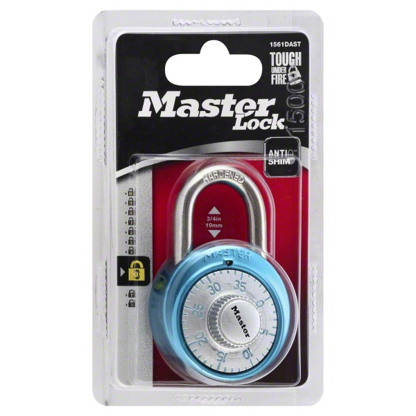 Master Lock Combination Lock, Assorted Colors 1 ea