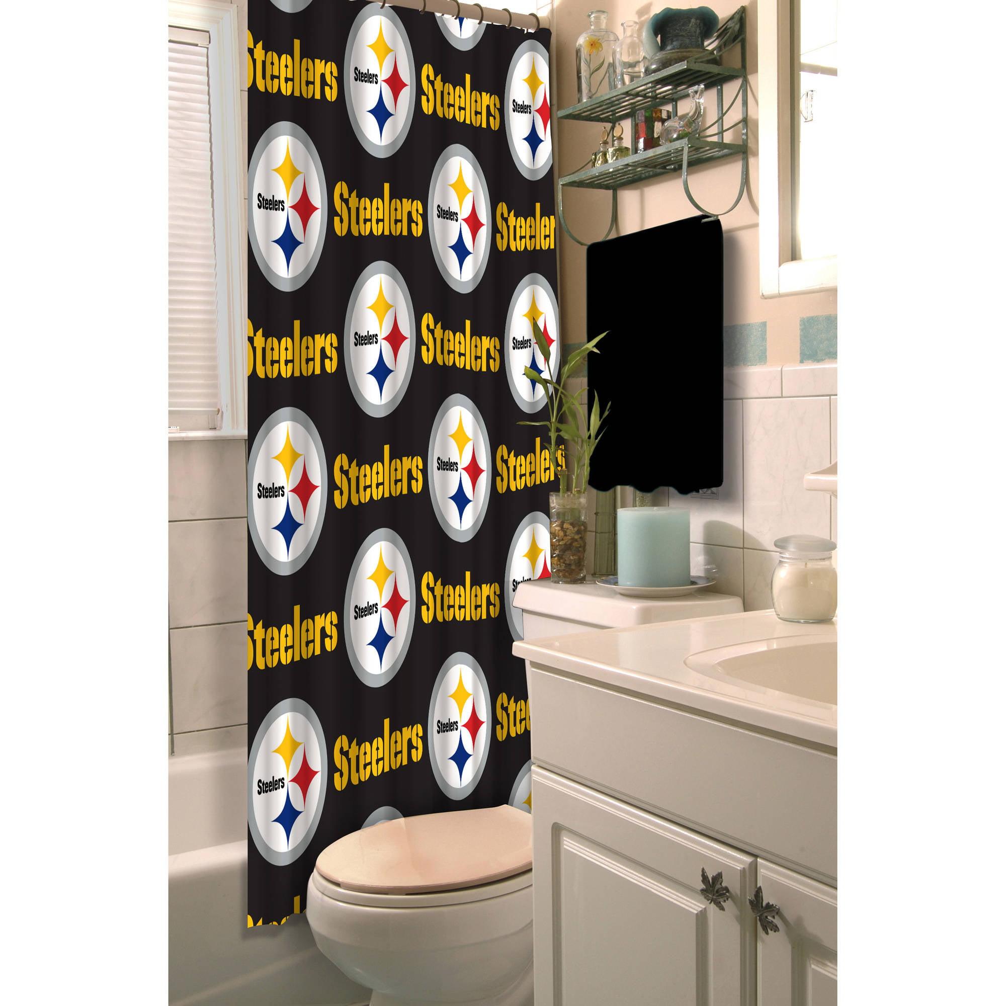 NFL Pittsburgh Steelers Shower Curtain, 12 Each - Walmart.com