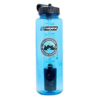 Epic Nalgene OG Grande | Water Filtration Bottle | Wide Mouth 48 oz | USA Made Bottle | American Made Filter Removes 99.99% of Tap Water Contaminants Lead Chlorine Chromium 6 Arsenic Chloroform