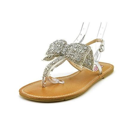 - Dolce by Mojo Moxy Sienna Women  Open-Toe Canvas Silver Slingback Sandal