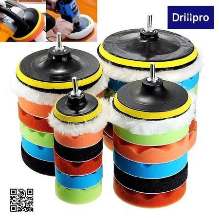 "7pcs 3""/5""/6""/7"" Sponge Polishing waxing Buffing Pads Kit Compound Polishing with 5/8"