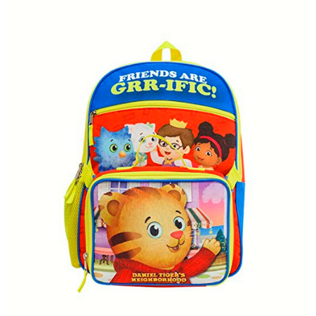 DANIEL TIGER BACKPACK WITH LUNCH KIT