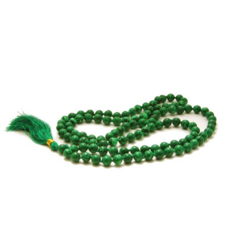 Prayer Mala Beads - Man-made Malachite - 108 Prayer Beads