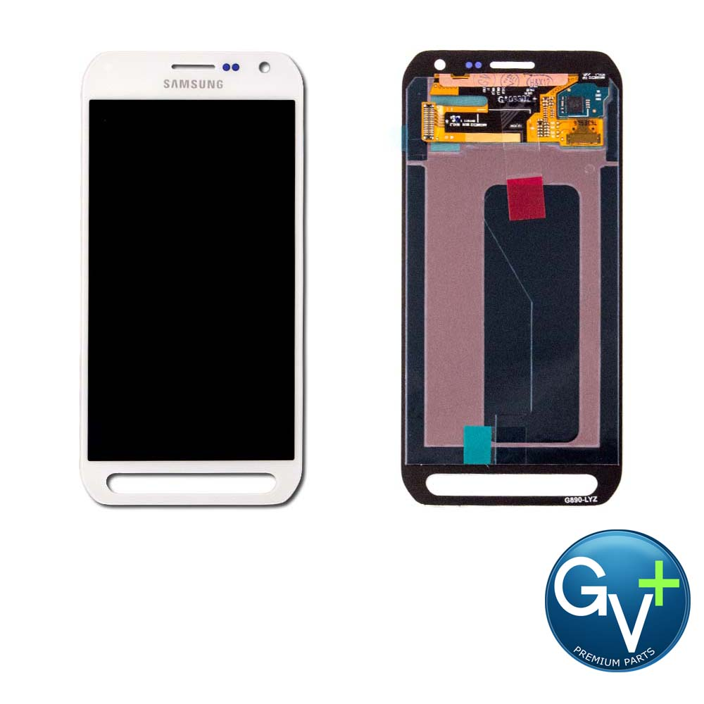 OEM Touch Screen Digitizer and AMOLED for Samsung Galaxy S6 Active - Camo White (SM–G890A)