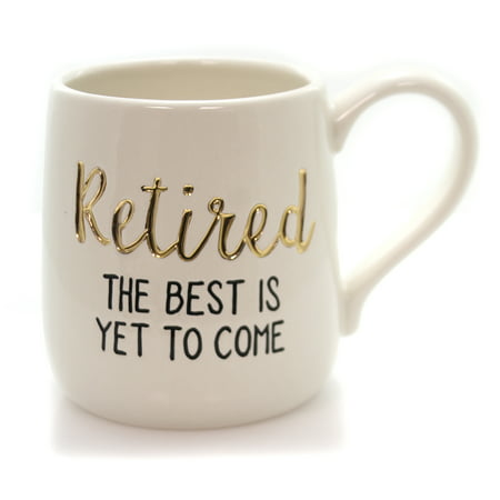Tabletop RETIRED BEST TO COME MUG Ceramic Etched Gold