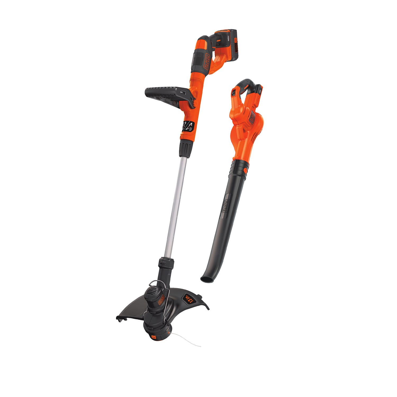 BLACK+DECKER LCC340C 40V MAX* Lithium-Ion Cordless String Trimmer & Sweeper Combo Kit