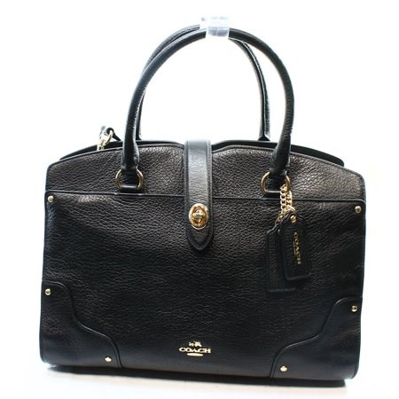 Coach - Coach Mercer Satchel Black Grain Leather Ladies Handbag 37575 -  Walmart.com 0a098cd08465a