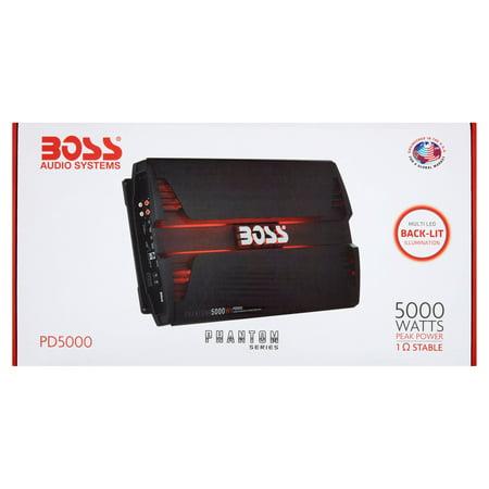 Boss Audio PD5000 Phantom 5000 Watt Monoblock, Class D Car
