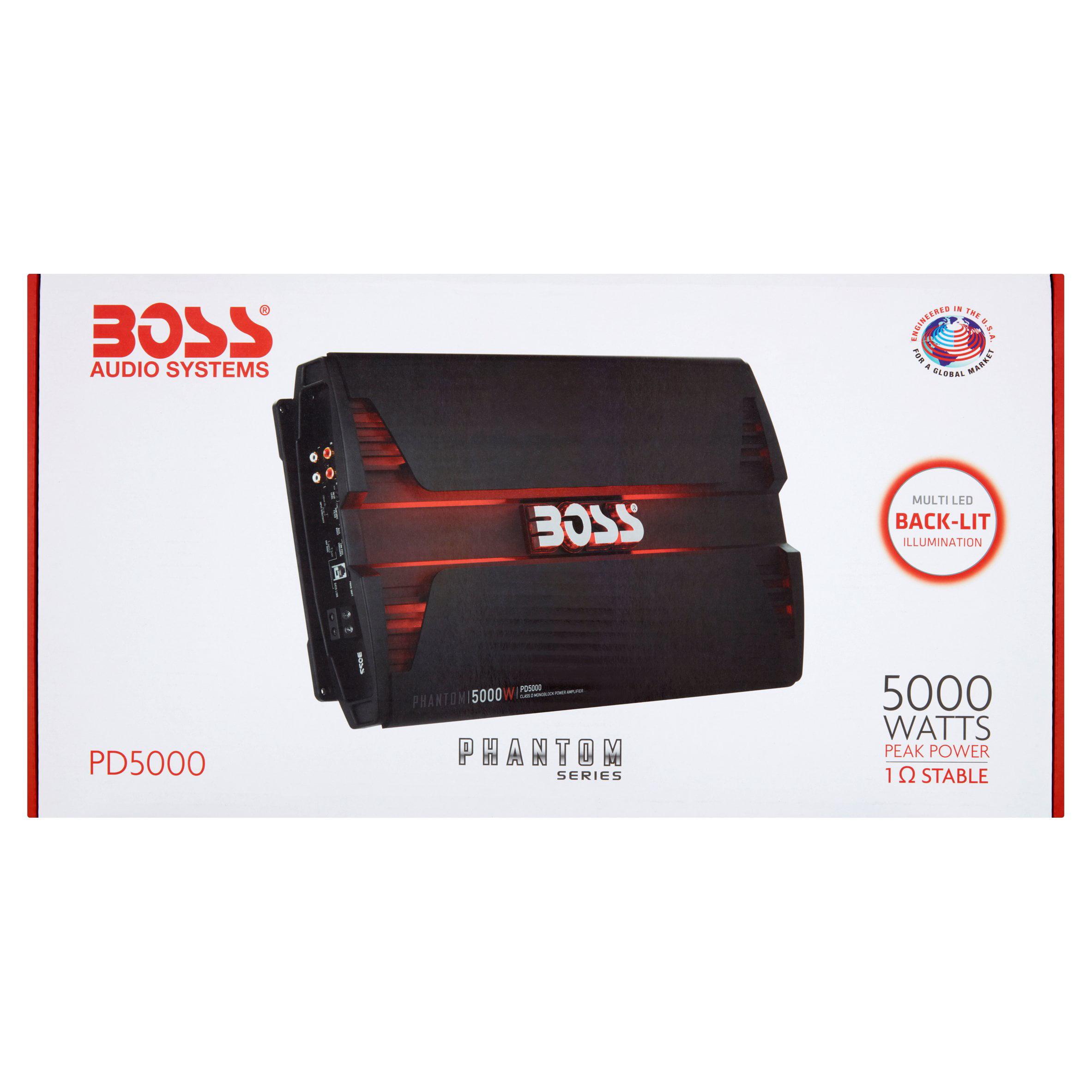 Boss Audio PD5000 Phantom 5000 Watt Monoblock, Class D Car Amplifier