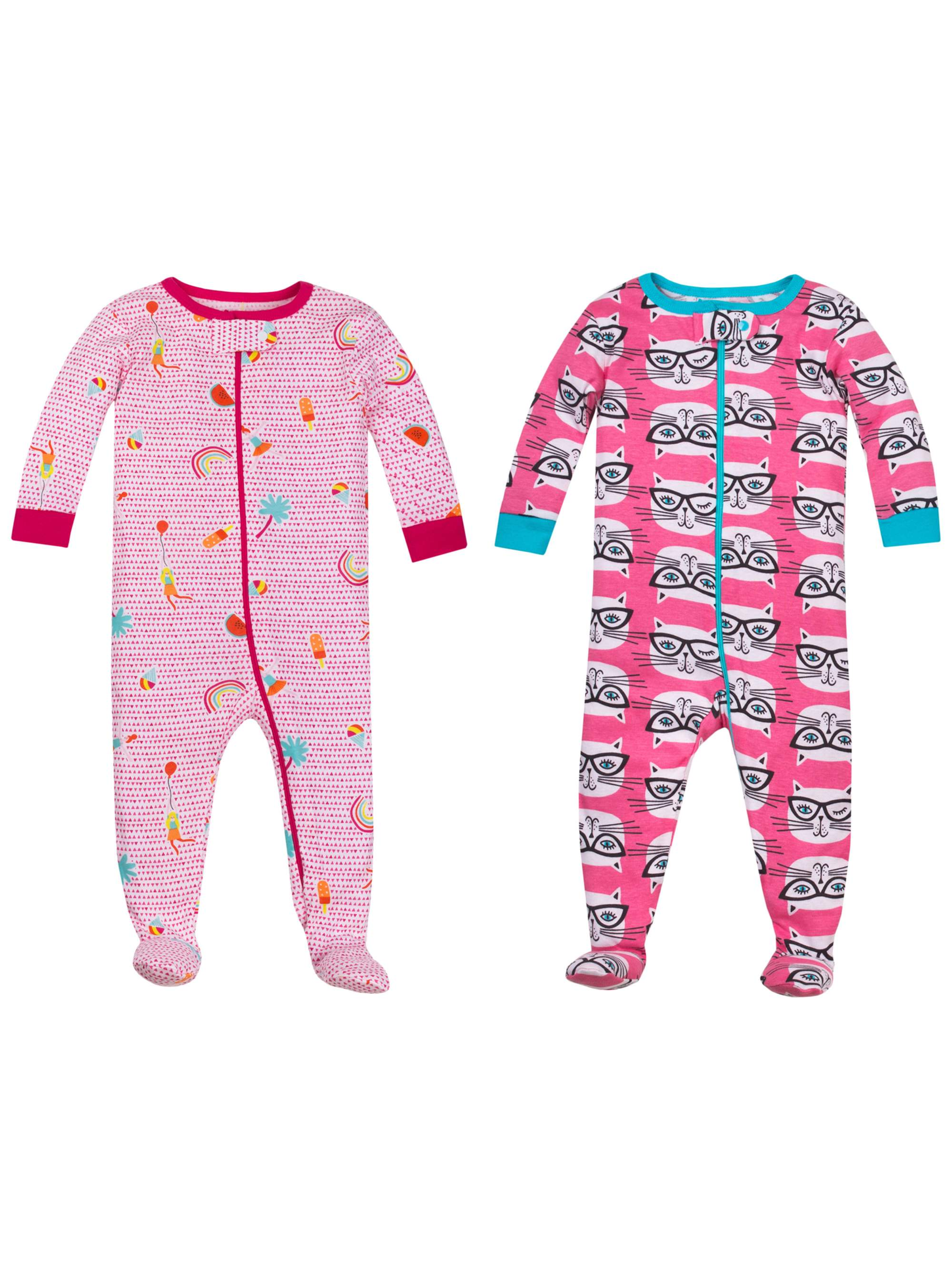 Baby Girl Snug Fit Stretchies, 2-pack