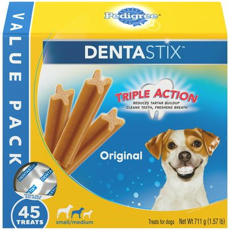 PEDIGREE DENTASTIX Halloween Small/Medium Dog Dental Treats Original Flavor, 1.57 lb. Value Pack (45 Treats) - Making Healthy Halloween Treats
