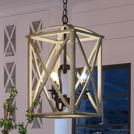 Toucan Metal - Urban Ambiance Luxury Farmhouse Chandelier, Medium Size: 20