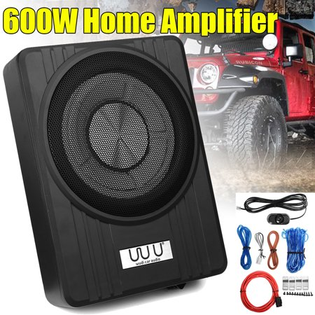 Grtsunsea 10'' High Power 600W 12V Under Seat Car Truck Audio Subwoofer on