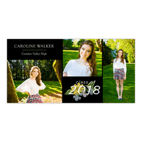 Personalized Graduation Announcement - Grad Garden - 4 x 8 Flat