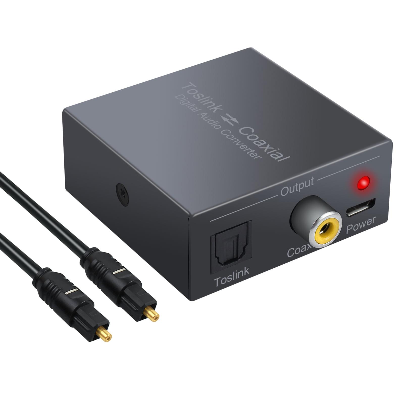 ESYNIC Digital Audio Converter Optical SPDIF Toslink to Coaxial and Coaxial to Optical SPDIF Toslink Bi-derectional Swither SPDIF Coaxial and Toslink Optical Splitter