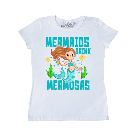 Mermaids Drink Mermosas with Fish and Bubbles Women