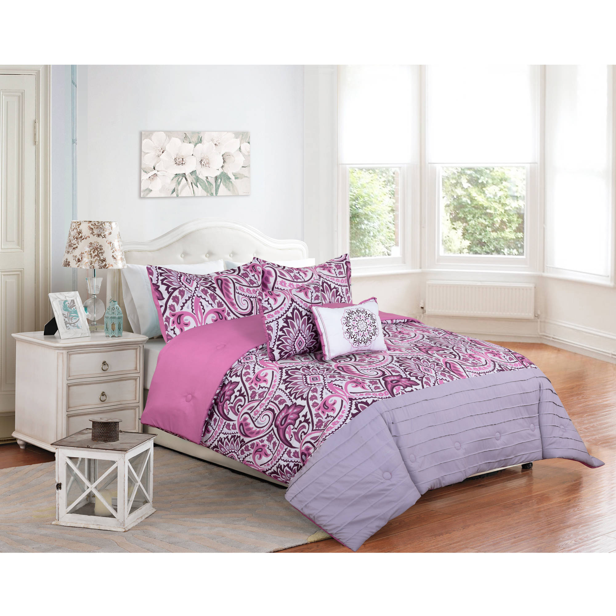 Better Homes & Gardens Full or Queen Ikat Scroll Comforter Set, 5 Piece
