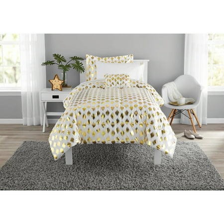 - Mainstays Gold Dot Bed in a Bag Bedding