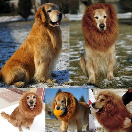 Large Pet Costume Dog Lion Wigs Mane Hair Scarf Party Fancy Dress Clothes Dog Costume Festival Party Fancy Dress Halloween for $<!---->