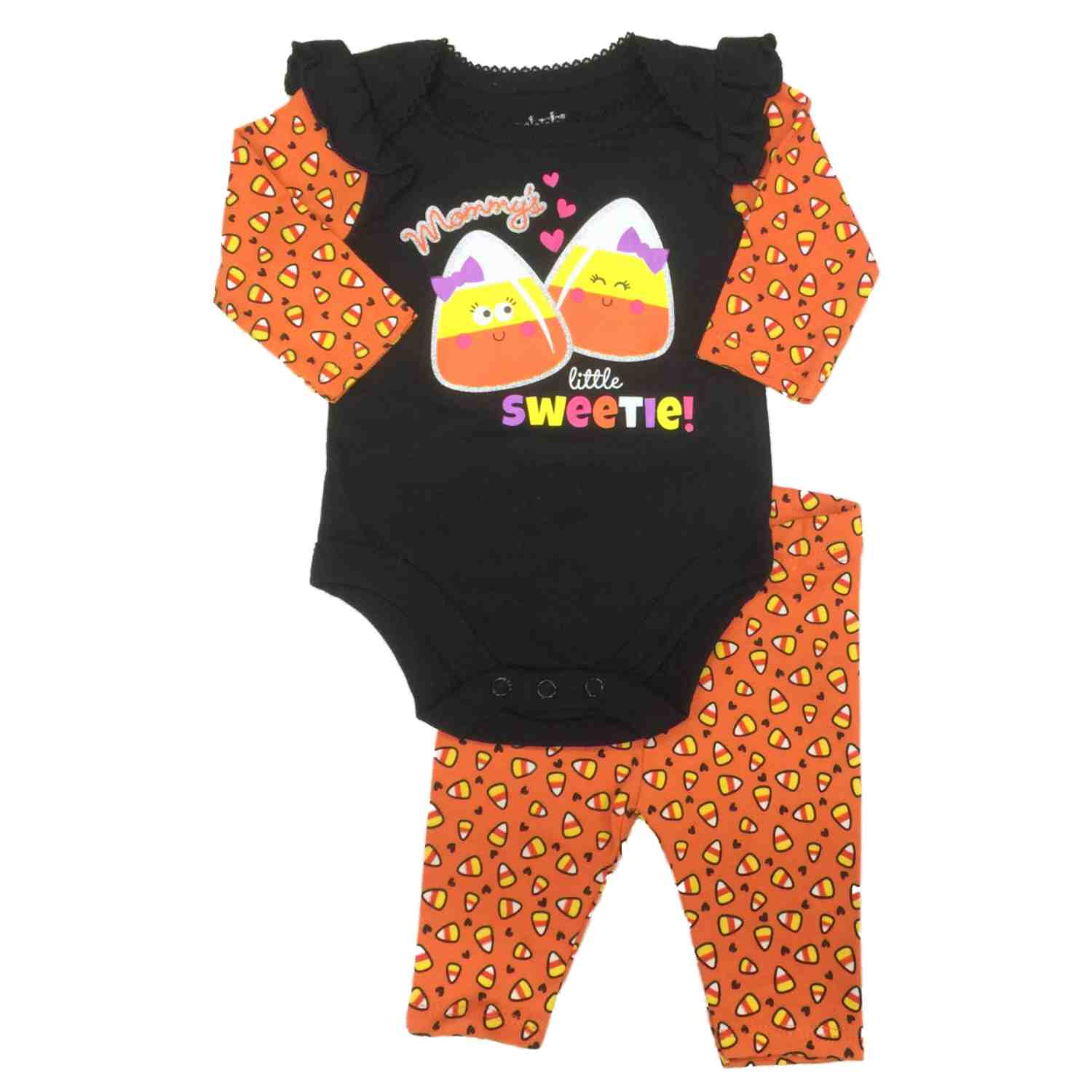 Garanimals Infant Girl Mommys Little Sweetie 2 Pc Halloween Candycorn