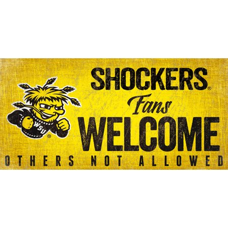 Wichita State Shockers Wood Sign Fans Welcome 12x6 - image 1 of 1