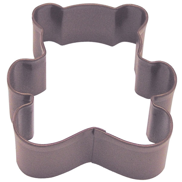 Teddy Bear Poly Resin Brown Cookie Cutter 3 in Pr1140Z - R&M Cookie Cutters - Tin Plate Steel