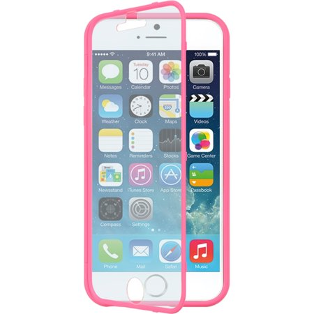 Insten Wrap Up Hard Rubber Case with Installed Screen Protector for Apple iPhone 6 / 6s - Hot - Protector Hard Case Rubber