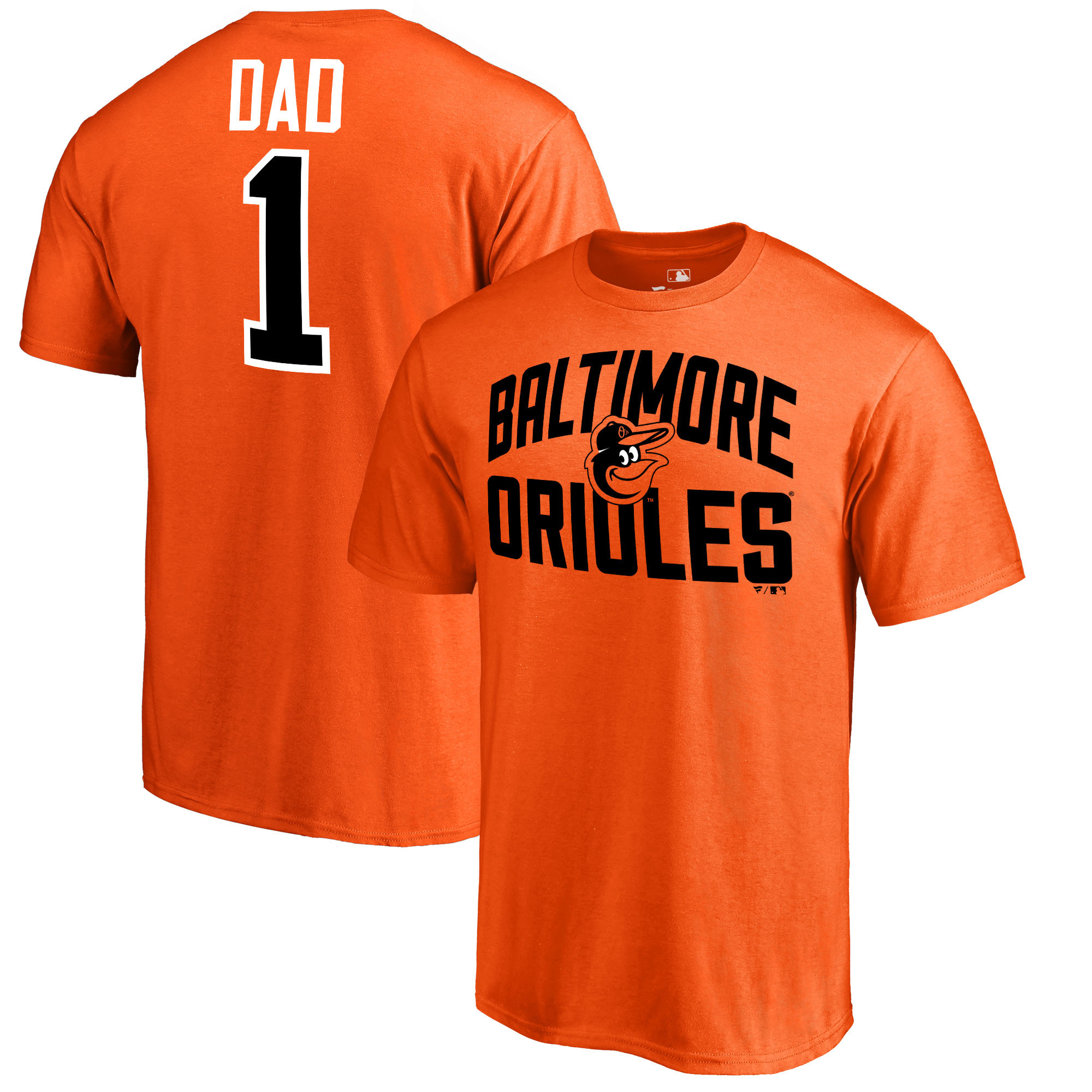 Baltimore Orioles Fanatics Branded 2018 Father's Day Number 1 Dad T-Shirt - Orange