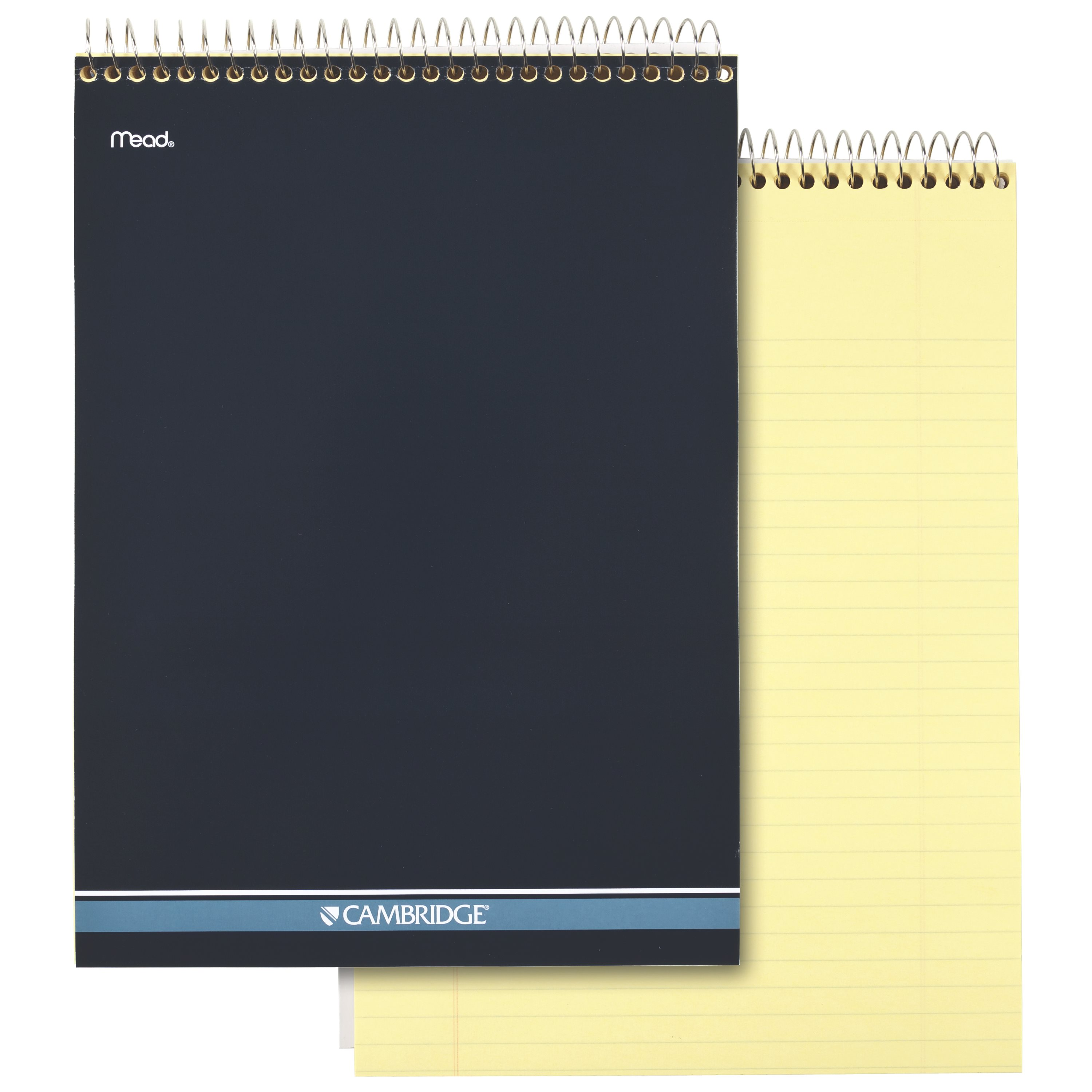 "Cambridge Stiff-Back Wire Bound Notebook Canary 8 1/2"" x 11"" (59880)"