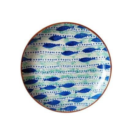 Incl Coupe - Euro Ceramica Inc. Euro Ceramica Pescador 15-inch Round Coupe Platter