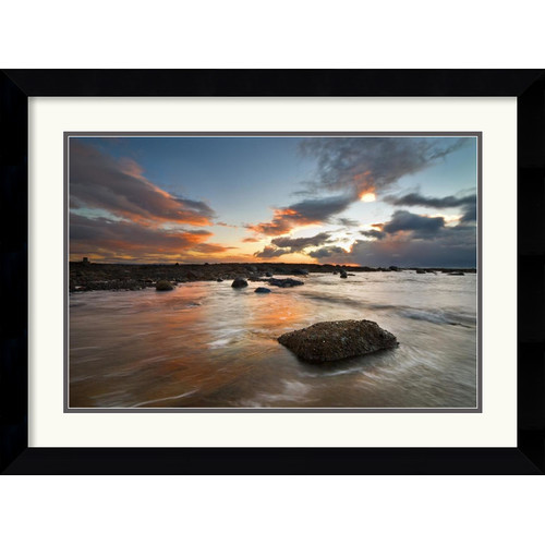 Amanti Art 'Sailcoats Sunset' by Robert Strachan Framed Photographic Print