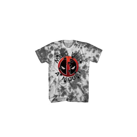 Mad Engine Marvel Deadpool Irresponsible Bullets-1 White/Charcoal Mens Shirt, X-Large
