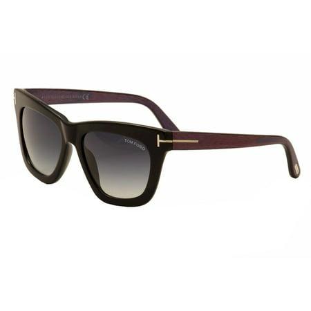 Tom Ford Women's Celina TF361-F 361-F 01A Shiny Black Wayfarer Sunglasses 55mm