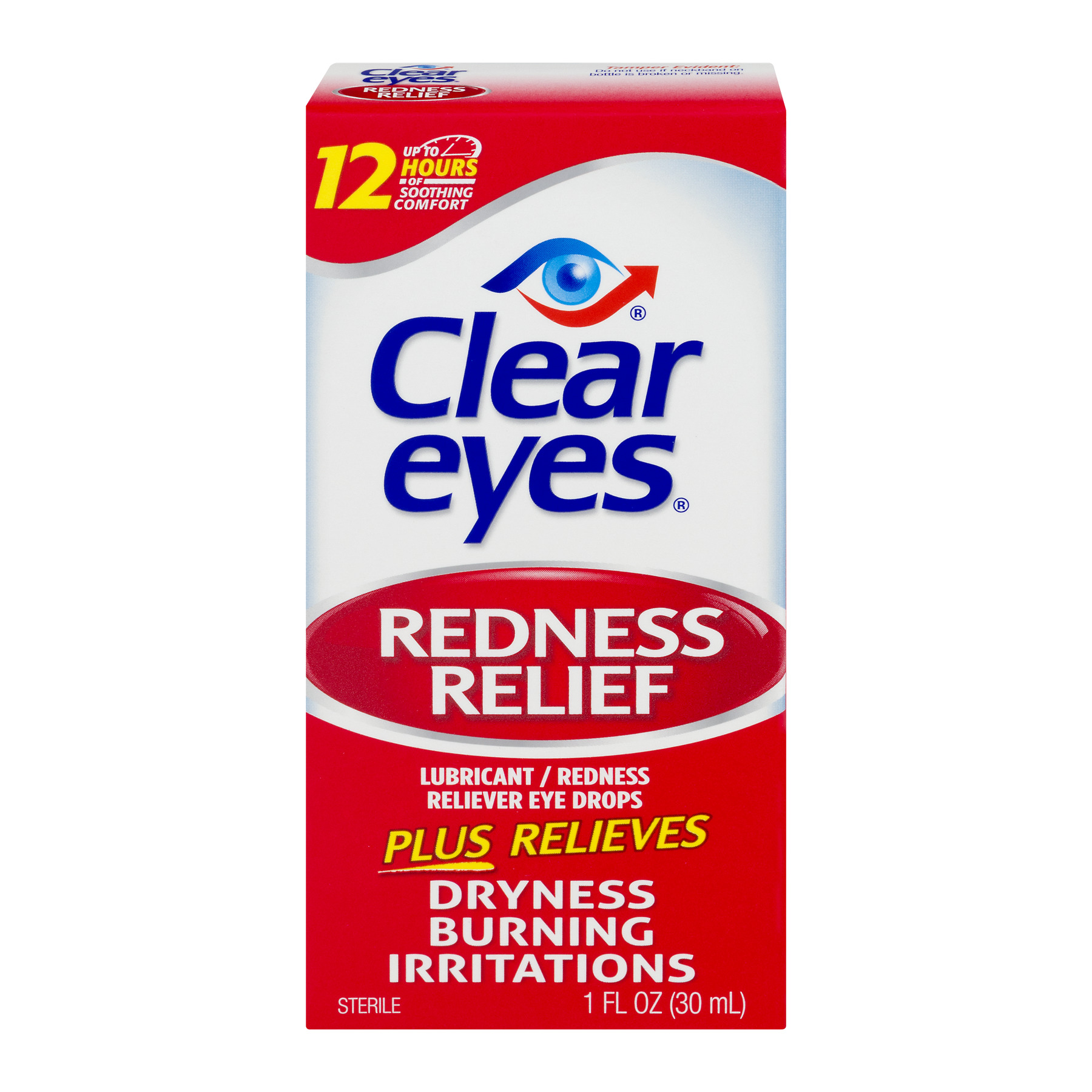 Clear Eyes Redness Relief Lubricant/Redness Reliever Eye Drops, 1.0 FL OZ
