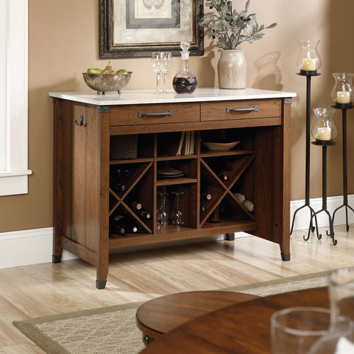 picture of kitchen islands sauder carson forge dining furniture collection walmart 4192